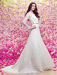 lan ting une ligne robe de mariée - tribunal ivoire gare cuillère dentelle