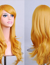 Fashion Color Cartoon Colored Wigs Special Masquerade 70 CM Yellow Wig