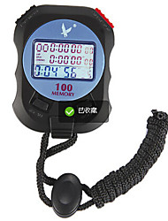 Electronic Stopwatch Timer PC100AThree Row 100 Memory Stopwatch Stopwatch Timer Movement Stopwatch Sports Timer