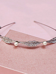 Women Rhinestone Imitation Pearl Headbands Wedding Headpiece