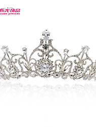 Neoglory Jewelry Tiara Crown Hair Accessories for Lady Wedding Pageant with Drop Clear Austrian Zirconia Rhinestone