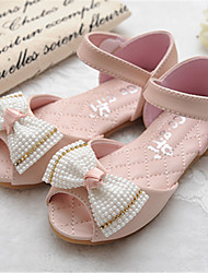 Girls' Shoes Outdoor/Dress Peep Toe Faux Leather Sandals Pink/Beige