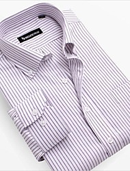 camisas oxford mens Slim Fit elegantes camisas formais vestido ocasional camisa de manga longa dos homens para homens tamanho da Ásia: