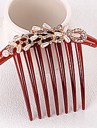 New Fashion Pearl Rhinestone Bride Seven Tooth Hair Comb