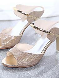 FALIA Women's Shoes Gold/Silver/Khaki Stiletto Heel 6-9cm Sandals (PU)