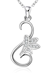 Cremation Jewelry 925 sterling silver Simple Flower with Zircon Pendant Necklace for Women