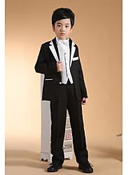 First Communion Ring Bearer Suit Black Polester/Cotton Blend 5 Suit Bearer Dressy Suits