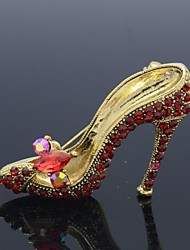 Red High-Heeled Shoes Brooch Broach Pins Rhinestone Crystal (More Colors)