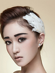 Women's Feather Headpiece-Wedding Special Occasion Casual Outdoor Tiaras Flowers Hair Pin Head Chain 1 Piece