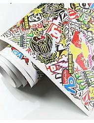 venda 150cmx100cm quente grafites etiquetas personalizadas etiqueta bomba varas carro de vinil