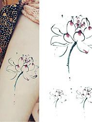 Elegant Water Lilies Tattoo Stickers Temporary Tattoos(1 Pc)