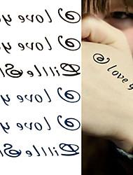Call Me I Love You Tattoo Stickers Temporary Tattoos(1 Pc)
