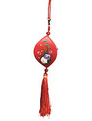China Handstickerei Anhänger - ein kleines Lächeln (red)