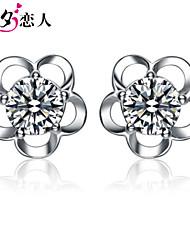 925 Sterling Silver Earrings July 7th Lover Flower New Girl Cute Earrings Sterling Silver Stud Earrings