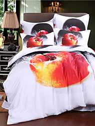 Mingjie maçã vermelha roupa de cama de algodão conjuntos 3d 4pcs roupa de cama queen size china conjuntos de cobertura Duvert