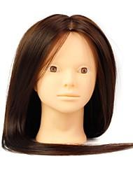 résistant à la chaleur synthétique salon de coiffure mannequin féminin Head Aucune couleur brune de maquillage