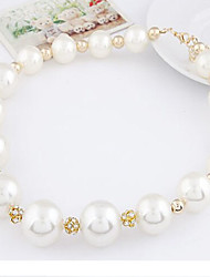New Arrival Fashional Hot Selling Sweet Rhinestone Pearl Necklace