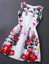 Women's Casual High Quality Print Sleeveless Dress