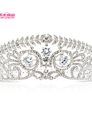 Neoglory Jewelry Round Royal Tiara Crown for Lady Wedding Pageant with Austrian Rhinestone