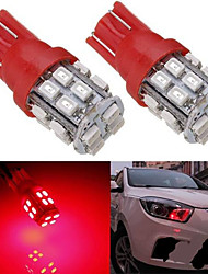 2 x T10 192 501 Ultra Red 20 SMD LED Wedge Side Interior Light Bulbs