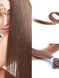 "22""inch Flat Tip Malaysian Virgin Hair Straight Human Hair Color #10"
