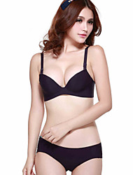 Women's Smooth And Flawless Sexy Together Gather Bra Set