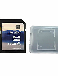 Kingston Digital 32GB Class 4 SD Memory Card  And The Memory Card Box