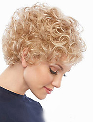 Europe And The United States  Sell Like Hot Cakes Light Golden Old Short Curly Wig
