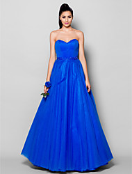 TS Couture Formal Evening Dress - Lace-up Ball Gown Sweetheart Floor-length Tulle with Beading Draping