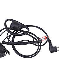 professionnels écouteurs intra-crochet de baiston pour talkie-walkie motorola / hyt - noir