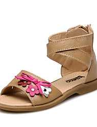 Girls' Shoes Outdoor/Athletic/Casual Slingback/Comfort/Round Toe/Open Toe Leather/Calf Hair Sandals Champagne