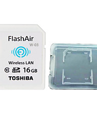 TOSHIBA  16GB Class10 FlashAir Wifi SDHC Memory Card  And The Memory Card Box