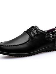 Men's Shoes Wedding/Office & Career/Casual Leather Oxfords Black/Blue/Brown
