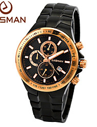 EASMAn Watch Men Sport Brand Quartz Watch 2015 Steel Multifunction Chronograph Wristwatches