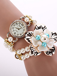 KOSHI  Pearl Bracelet Flower Wristwatches Women Fashion Luxury Watch Famous Brand Watches