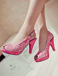 Women's Shoes Heel Heels / Peep Toe / Platform Sandals / Heels Outdoor / Dress / Casual Black / Red / Silver / Gold