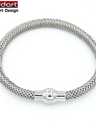 316L Stainless Steel Mash Bangle with Round Steel Magnet Buckle for Unisex