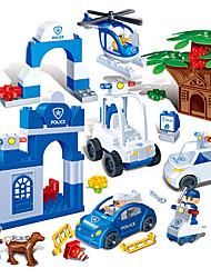 la scène voleur de police de 9607 grandes briques granulaires 88 morceaux de la petite enfance jouets intellectuelle