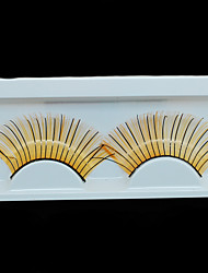 Made in China Gold and Black Color Handmade False Eyelashes Thick Synthetic Hair Eye Lashes