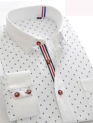 CHINA SIZE Mens Long Sleeve Dress Shirt Chemise Homme Summer Birds Graphic Slim Fit Business Shirt Camisa Masculina