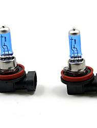 TIROL 2pcs Auto Headlight Bulbs Headlamp Bulbs Halogen H11 12V 100W Super White 5000K