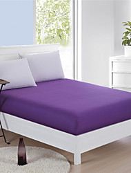Cotton Mattress Cover Light Purple Bedsheets