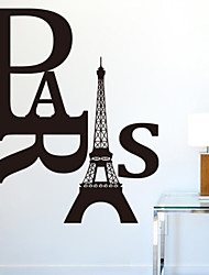 Paris Removable DIY  Wall Decals Zooyoo8186 Removable Vinyl Wall Stickers Home Decoration