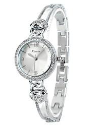 elegante coração-forma relógio de pulseira de cristal de rocha de quartzo das Kimio mulheres (duas opções de cores)