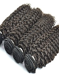 4Pcs Lot Mongolian Hair Jerry Curl Natural Black Color #1B Human Hair Weaving