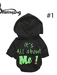 """DroolingDog®  Lovely """"It's All about Me!"""" Pattern Fleece Hooded T-Shirt for Dogs (Assorted Colors Assorted Sizes)"""