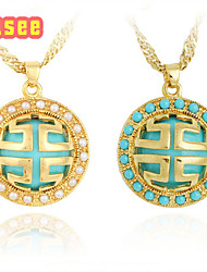 Fashion Turquoise Series  18K Golden Plated Pendant Jewelry