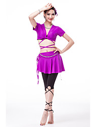 Belly Dance Outfits Women's Training Spandex/Tulle/Modal 4 Pieces(more color)