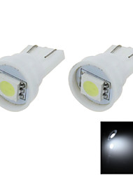 2X  White T10 1 SMD 5050 LED car Clearance Indicator Lamp Side Light Bulb DC 12V A001