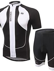 Trajes ( Blanco/Negro ) - Transpirable/Permeabilidad a la humeda/Capilaridad/Bandas Reflectantes/Bolsillo trasero - de Ciclismo - de